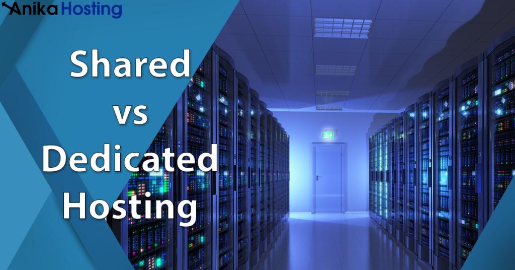 shared hosting vs dedicated hosting